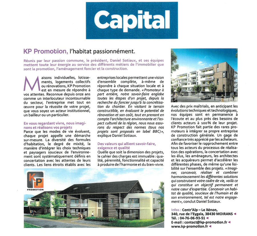 Les Actus KP Habitat - Presse